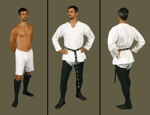 Patrones moda siglo xiv hombre y mujer - Ropa interior medieval ...
