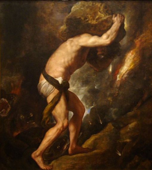 Picture of Sisyphus, by Titian
