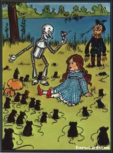 eCard showing Dorothy meeting the mice.